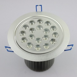 18 LED High Power Ceiling Light Down Recessed Lamp White 85~265V 18W Cabinet