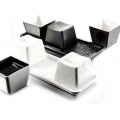 Three-piece glass cup shape button keyboard black