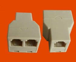 New RJ11 RJ-11 Connector Splitter Extender Plug Adapter