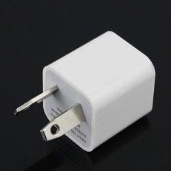 iPod iPhone White AU AC to USB Power Charger Adapter Plug
