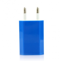 iPod iPhone Lake Blue EU AC to USB Power Charger Adapter Plug