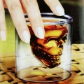 Home Bar 2 Ounces Crystal Skull Head Vodka Shot Glass Drinking Ware