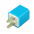 iPod iPhone Blue US AC to USB Power Charger Adapter Plug