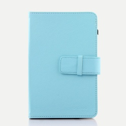 "7"" Tablet PC Blue New Folio Leather Case Cover"