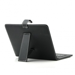 "9.7"" MID Tablet PC Black Leather Case with Micro USB Interface Keyboard"
