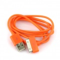 iPhone iPod iTouch Orange New USB Data Charger Cable Cord