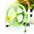 iron aluminum leaf USB silent fan Green