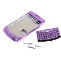 BlackBerry Bold 9700 - Purple Full Case Plated High Quality Replacement Housing Case with Keypad