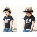 Children hemp straw hat Sir cap shade straw hat black