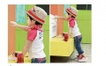 Children hemp straw hat Sir cap shade straw hat red