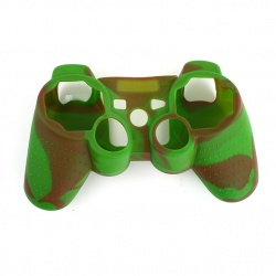 PS3 Coffee green Silicone protection Case
