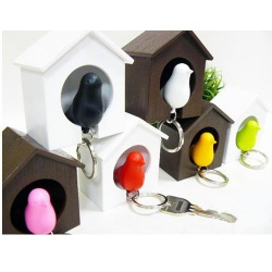Love nest bird key chain whistle sparrow keychain key ring color random