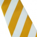 White Yellow Stripe Silk Classic Woven Man Tie Necktie TIE0187