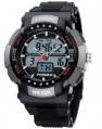 HighQuality PASNEW 50M Water-proof Dual Time Boys Men Sport Watch