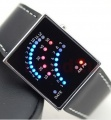 29 LED Blue Red Light Digital Date Lady Men Wrist Watch