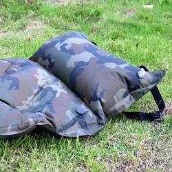 Camouflage can be spliced with a pillow inflatable automatic single person inflatable pad