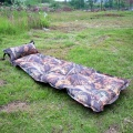 camouflage leaves can be spliced with a pillow automatic inflatable single inflatable cushion