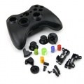 xbox 360 wireless controller replacement shell black