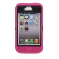 iPhone 4/4S - Rose Hard Plastic Case with Outer Silicone Skin