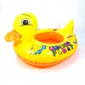 small yellow duck inflatable baby swimming  boat/swim ring