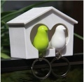 The couple birdie multifunction keychain key ring - White + Green