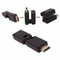 Gold Plated 360 degrees Rotation HDMI Male to Female Swivel Adapter Converter