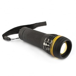 3 mode 3W LED Focus Zooming Torch Light Flashlight 3XAAA Black+Yellow