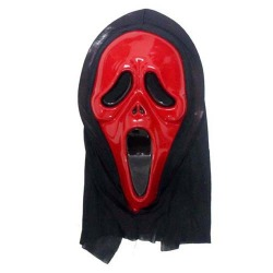Halloween Protest All Saints' Day Party Red Devil Mask Scream