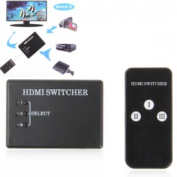 3 Port Way HDMI Switch Switcher Splitter HDTV with Remote