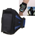 iPhone 4 4S - Blue Stylish Reticular Sports Armband Pouch Case Arm Strap Holder