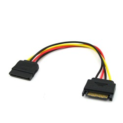 New SATA 15-pin to 15-pin Power Extension Cable
