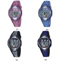 HighQuality Color Block PASNEW LED Water-proof Boys Girls Sport Watch