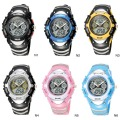 HighQuality PASNEW LED+Pointer Water-proof Dual Time Boys Sport Watch