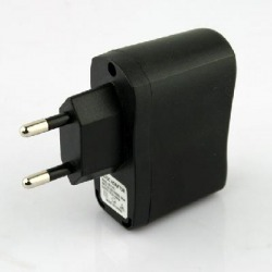 EU Plug USB AC DC Power Supply Wall Charger Adapter MP3 MP4 DV Charger Black