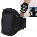 iPhone 4 4S - Black Stylish Reticular Sports Armband Pouch Case Arm Strap Holder
