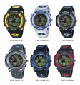HighQuality PASNEW Water-proof Dual Time Boys Men Sport Watch