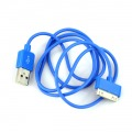 Apple iPhone iPod iTouch Blue New USB Data Charger Cable Cord