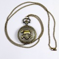 Vintage Steampunk Necklace Pendant Chain Skeleton Mechanical Pocket Watch Gift