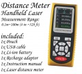 Laser Distance Meter 0.1 to 100M 1000 data store/recall USB data export