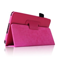 Amazon Kindle Fire 7 Pink Slim Fit Folio Stand Leather Case