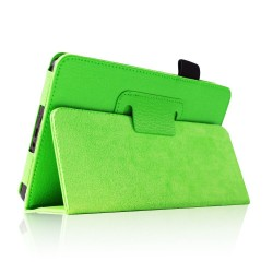 "Amazon Kindle Fire 7"" Green Slim Fit Folio Stand Leather Case"