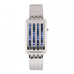 Classic Digital Metal 44 LED Lights Womens Watch Mens Watches