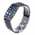 Unique Digital Lava Style Minimalist Blue LED Faceless Watch