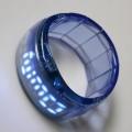 Fashion Jewelry Lady Women Clock Bracelet Bangle LED Digital Wrist Watch Blue