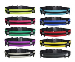 Large Size Three Pouch Waterproof Fitness Running Cycling Hiking Waist Belt Bag