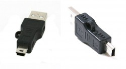 Standard USB 2.0 Male to Mini 5 Pin Male Adapter Converter