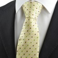 Tulip Yellow Green Bohemian Floral Checked Men's Tie Necktie Holiday Gift KT0094