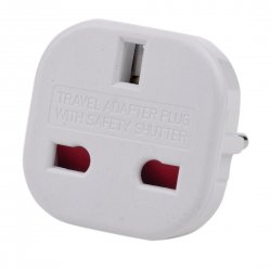 New EU to UK Power Plug Converter Adapter with safety shutter