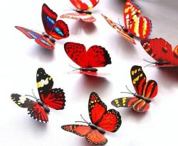 100pcs 7cm Colorful 3D Artificial Butterflies with Magnet