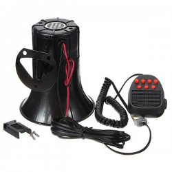 100W 7 Sound Tone Car Motorcycle Truck Home Loud Siren Alarm Loudpeaker Horn